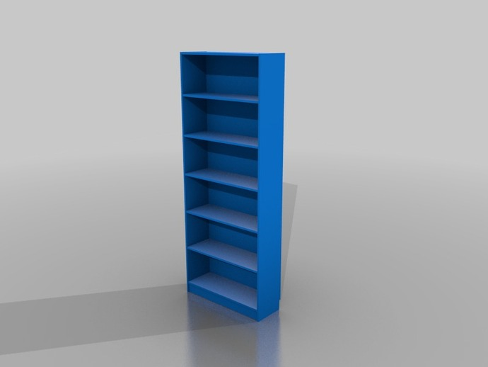 Blue Bookcase parametric billy bookcaseaesedepece - thingiverse