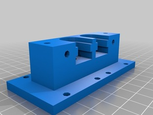 dual hot end mount for V3 hot end and RepRap Mendel