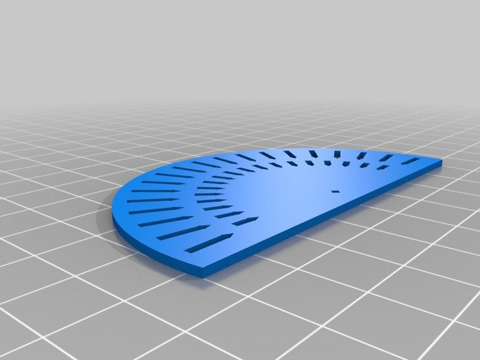 picture about Printable Protractor called Printable Protractor by means of MakerBlock - Thingiverse