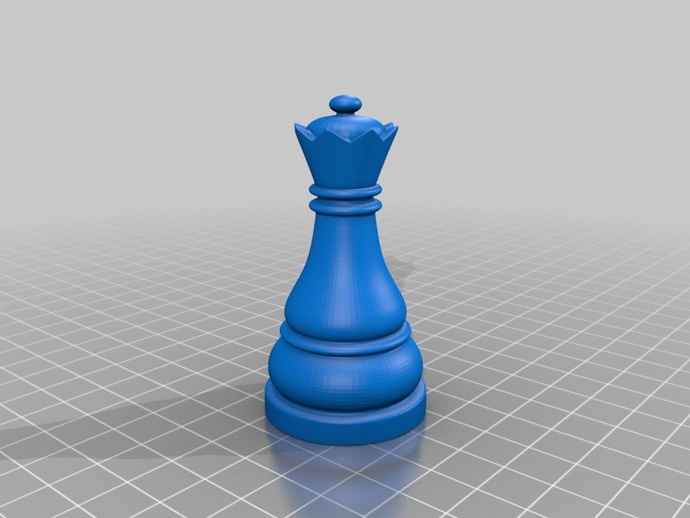 Chess Queen By Andymancan Thingiverse