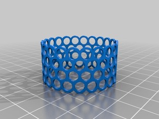 Cellular Like OpenSCAD Bracelet