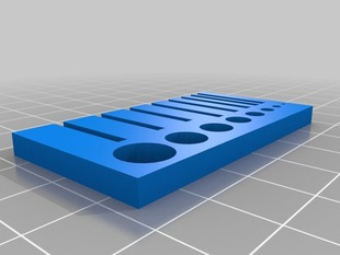 Calibration structure for walls and holes from 1 to 8mm