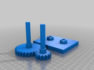 Simple Gear Example-Inkscape to Openscad