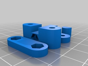 More Parametric Prusa Y-axis belt tensioner with ram