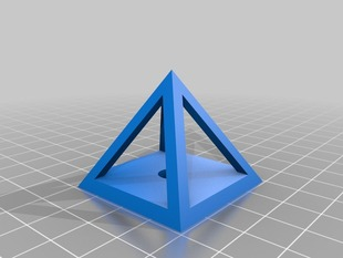 Calibration Pyramid with 8mm Hole