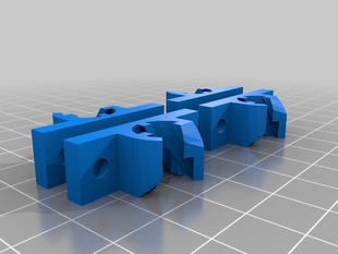 Mountable Y-axis PLA bushings