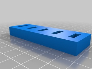 Parametric USB memory stick holder