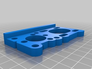 Cupcake printable adapterplate for Ruttmeisters stepper upgrade
