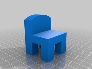 Chair Model / overhang test