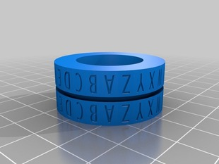 Caesar Cipher Decoder Ring Flat