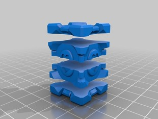 Companion Cube Multiple Parts for Printing