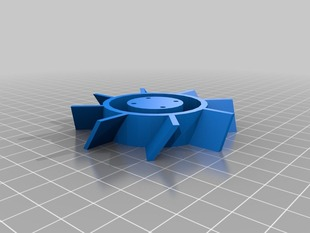 Fan Blade with mounting holes