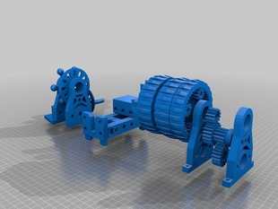 Mini printable lathe V2 + Chuck - OpenSCAD version.
