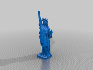 Statue of Liberty with fist