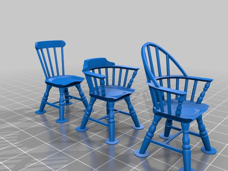 ... Windsor Chairs. By PrettySmallThings. Thingiview