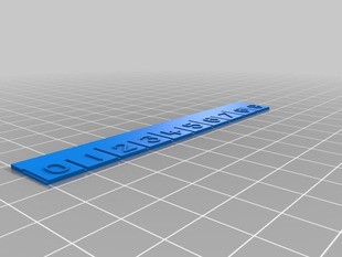 Calibration ruler and numbers font for OpenSCAD
