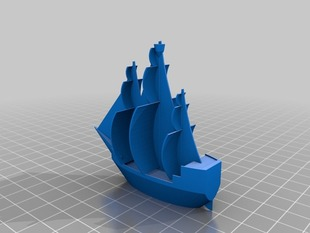 OpenSCAD Pirate Ship