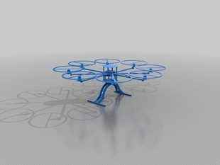 OctoCopter design using OpenSCAD