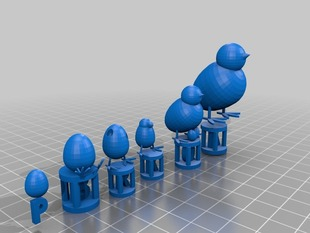 Egg To Chick #Chess Set