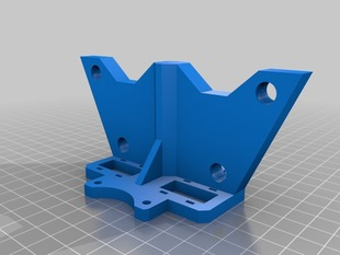 Wider PrintrBot Base and 12mm Z axis, Stylized