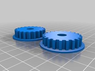 1/2 build tray Nophead Z driven pulleys