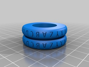 Caesar Cipher Decoder Ring Rounded