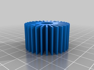 heatsink and support for extruder hot end.