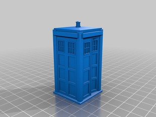 TARDIS 60mm door ajar