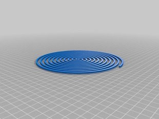 Spiral Object - For testing & fun (For 200mm X 200mm platform)